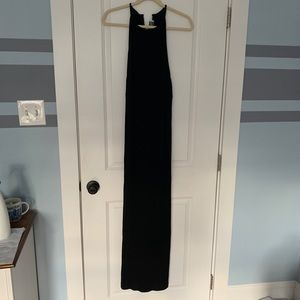 Daniel P Rebecca Long Black Dress